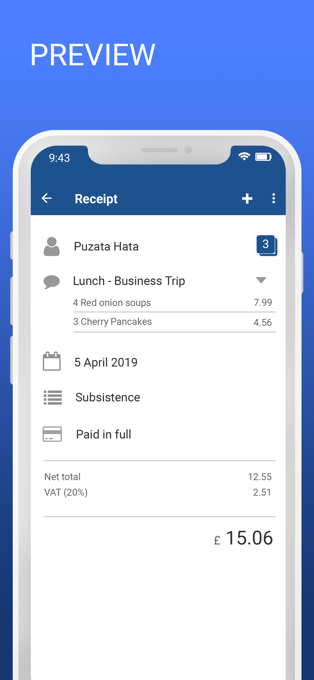Tax Return QuickFile App Preview